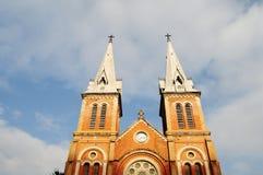De Basiliek van Notre Dame van Saigon royalty-vrije stock afbeelding