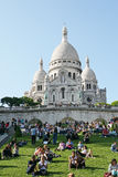 De basiliek van Sacrecoeur Stock Fotografie