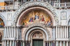 De Basiliek van San Marco in St Tekens regelt in Venetië, Italië Stock Afbeeldingen