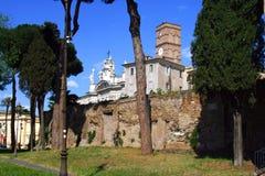 De Basiliek van Santa Croce, jerusalime het overblijfsel van Rome Italië van de Kerk een het Katholicisme hoofdmacht van het pelg Royalty-vrije Stock Afbeeldingen
