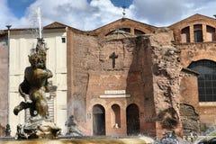 De Basiliek van Santa Maria-degliangelussen s del Martiri in Rome royalty-vrije stock foto
