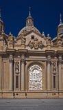 De basiliek van Santa Maria del Pilar Royalty-vrije Stock Afbeeldingen