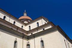 De Basiliek van Santa Maria del Santo Spirito, Florence, Italië Stock Afbeeldingen