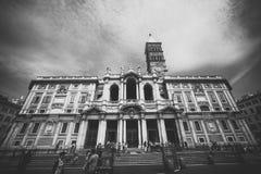 De Basiliek van Santa Maria Maggiore stock fotografie