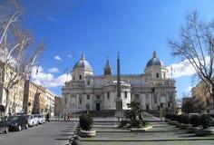 De Basiliek van Santa Maria Maggiore in Rome Stock Afbeeldingen