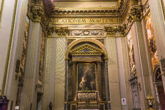 De basiliek van Santandrea della valle, Rome, Italië Royalty-vrije Stock Foto's