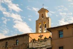 De basiliek van Santi Cosma e Damiano in Rome, Ita Stock Afbeeldingen