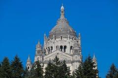 De basiliek van St Therese van Lisieux in Normandië, Frankrijk Royalty-vrije Stock Afbeeldingen