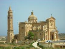 De Basiliek van Ta Pinu, Gozo, Malta Stock Fotografie