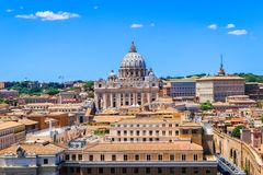 De Basiliek van Vatikaan St Peter ` s van de Stadstaat van Vatikaan, Italië stock foto's