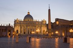 De Basiliek van Vatikaan St. Peters Royalty-vrije Stock Afbeeldingen