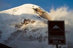 De basiskamp van Chimborazo royalty-vrije stock afbeelding