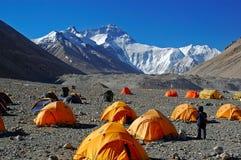 De basiskamp van Everest Stock Fotografie