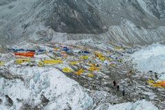 De basiskamp van Everest Het gezicht van het noorden royalty-vrije stock foto's