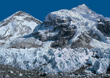 De basiskamp van Everest Het gezicht van het noorden Stock Afbeelding