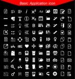 De basisreeks van het toepassingspictogram Stock Fotografie