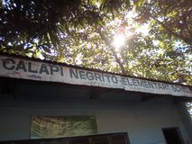 De basisschool van Calapinegrito royalty-vrije stock foto's