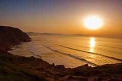 De Baskische kust van de mysticus Stock Foto
