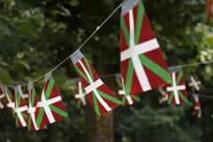 De Baskische vlaggen van het land stock foto