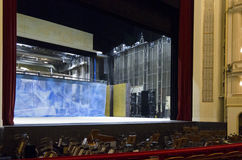 De bastidores do teatro da ópera de Viena Foto de Stock Royalty Free
