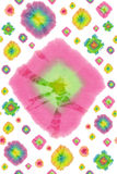 De batik omcirkelt patroon Stock Foto's