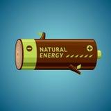 De batterij kijkt als brandhout stock illustratie