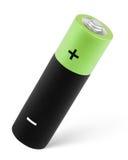 De batterij van aa op wit met het knippen van weg Royalty-vrije Stock Fotografie