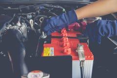 De batterij van de auto stock foto's