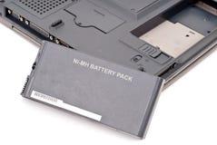 De Batterij van de computer stock afbeeldingen