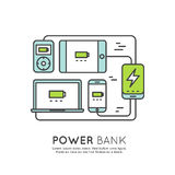 De batterij van de machtsbank Stock Afbeelding