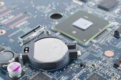 De batterij van Rtc in motherboard Stock Foto's