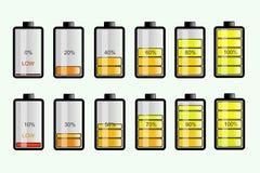 De batterij vult Stats stock illustratie