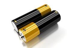 De batterijen Stock Foto's