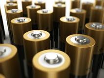 De batterijen sluiten omhoog Stock Foto's