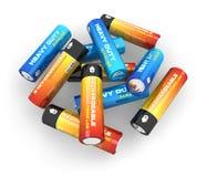 De batterijen van aa Stock Foto