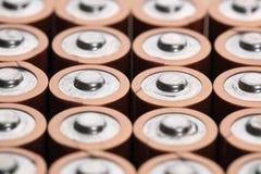 De batterijen van aa Stock Foto's