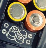 De batterijen van de lading Stock Foto's