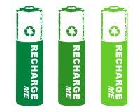 De batterijen van het herladen Stock Fotografie