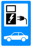 De batterijlader van de auto Stock Foto's