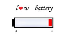 De batterijsymbool van de liefde Royalty-vrije Stock Afbeelding