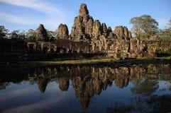 De Bayon Tempel, Angkor Stock Foto