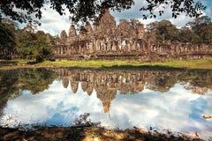 De Bayontempel in Siem oogst, Kambodja Royalty-vrije Stock Afbeelding