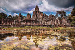De Bayontempel in Siem oogst, Kambodja Royalty-vrije Stock Foto's