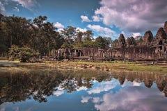 De Bayontempel in Siem oogst, Kambodja stock foto