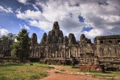 De Bayontempel in Siem oogst, Kambodja Stock Foto's