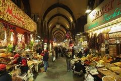 De Bazaar van het kruid (Egyptische Bazaar) in Istanboel Stock Afbeeldingen