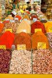 De bazaar van kruiden, Istanboel, Turkije Stock Foto's