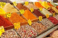 De bazaar van kruiden, Istanboel, Turkije Stock Afbeelding