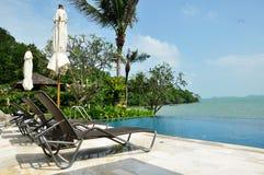De beachfrontpool Royalty-vrije Stock Fotografie