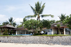 De beachfrontvilla Royalty-vrije Stock Afbeelding